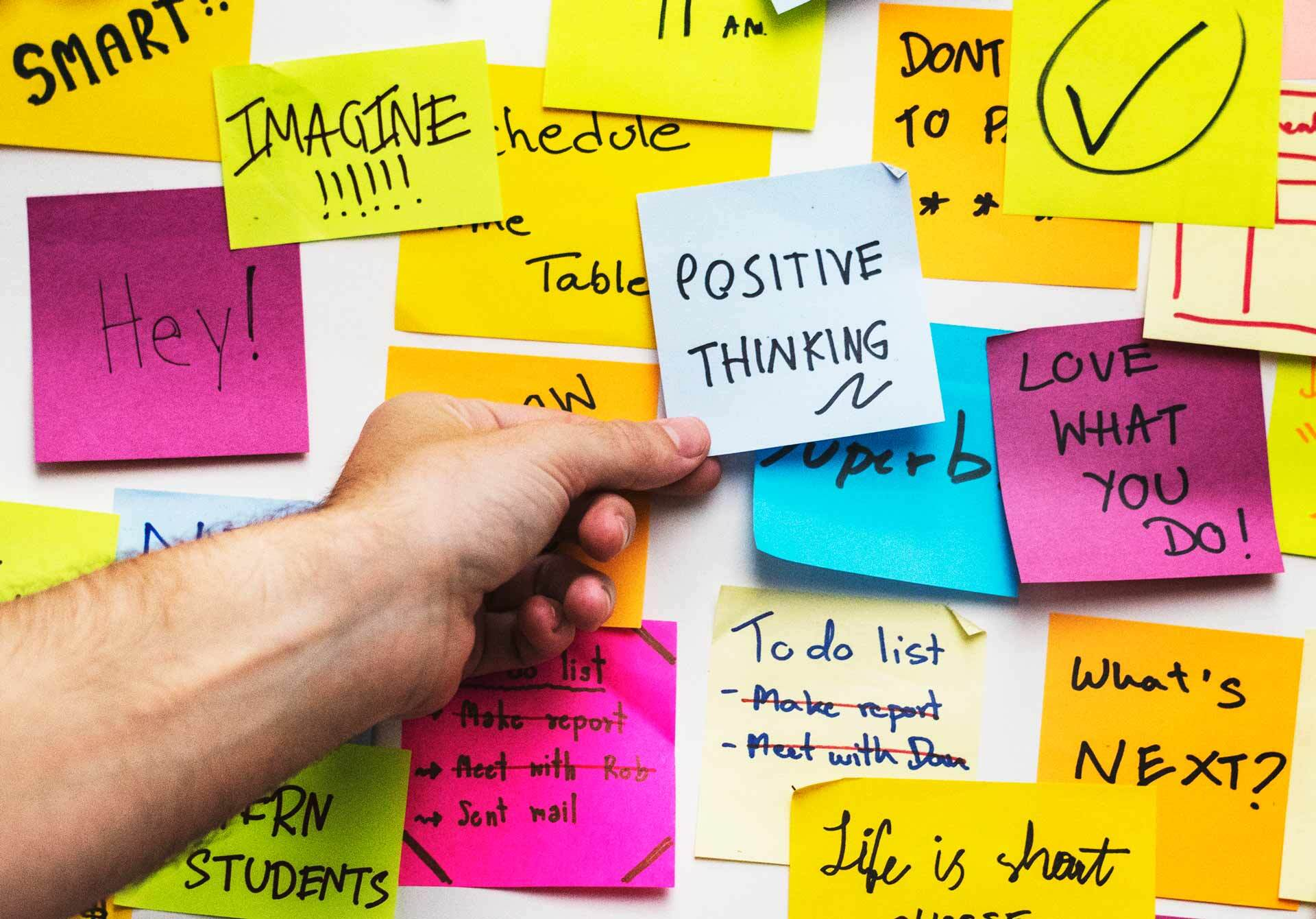 Notes positive thinking